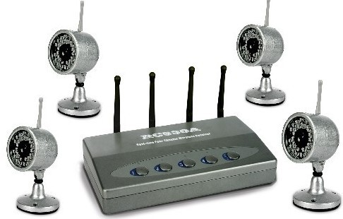 2.4Ghz 4 channels 4 Picture Display digital wireless security camera system Wireless Baby Monitor