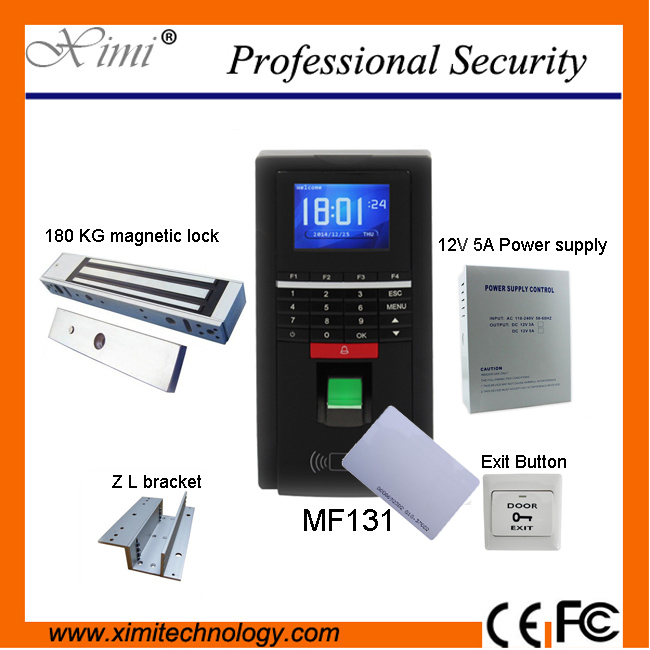 Biometric fingerprint access control and time attendance MF131, color screen, RS485 TCP/IP communications, 125KHz RFID outdoor use waterproof tcp ip color screen fingerprint and 125khz rfid smart card time attendance and access control system