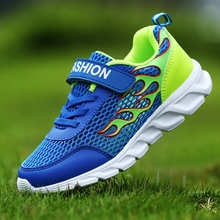 2018 New Summer Flame Pattern Kids Shoes Boys Girls Running For Children Sports Walking Travel Sneakers Mesh Breathable