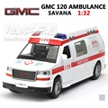 High Simulation Exquisite Model Toys: ShengHui Car Styling GMC Chinese Ambulance Model 1:32 Alloy SUV Car Model Best Gifts