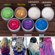 120g Unisex Color Hair Wax Dye One-time Molding Paste 8 Colors Available BLUE Burgundy Grandma Gray Green Hair Dye Wax Cream