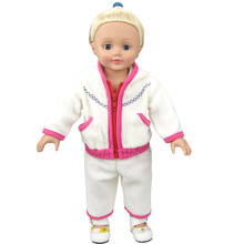 2pcs/set Pajamas For 18 Inch American Girl Doll Bule And Red , American Girls Clothes