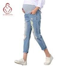 d83341fd9 Nueva Vaqueros Maternidad Pantalones para embarazadas ropa Pantalones  enfermería vientre prop legging embarazo ropa Monos noveno