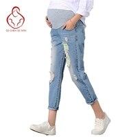 Nowe Spodnie Spodnie Ciążowe Spodnie Dla Kobiet W Ciąży Ubrania Prop Brzuch Legging Ciąży Pielęgniarstwo Odzież Dziewiątego Spodnie Kombinezony