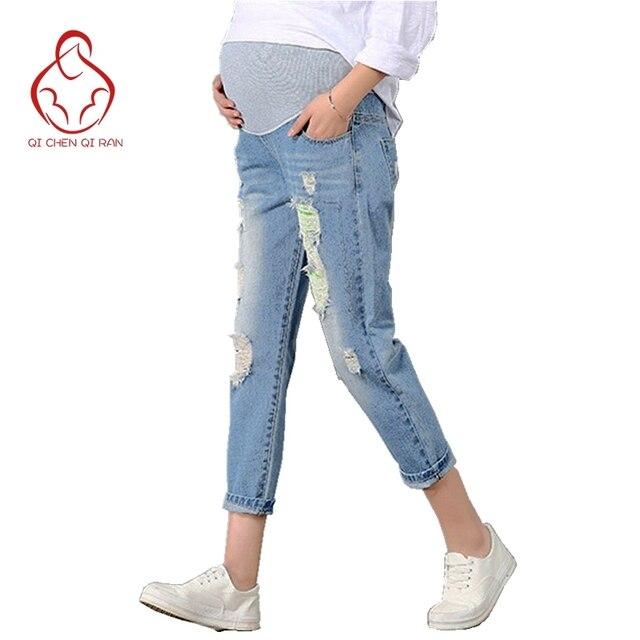 99e18735d Nueva Vaqueros Maternidad Pantalones para embarazadas ropa Pantalones  enfermería vientre prop legging embarazo ropa Monos noveno