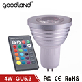 Goodland RGB LED Bulb GU5.3 4W AC85-265V Bombillas LED Spotlight High Power RGB LED Lamp 16 Colors Change IR Remote Controller