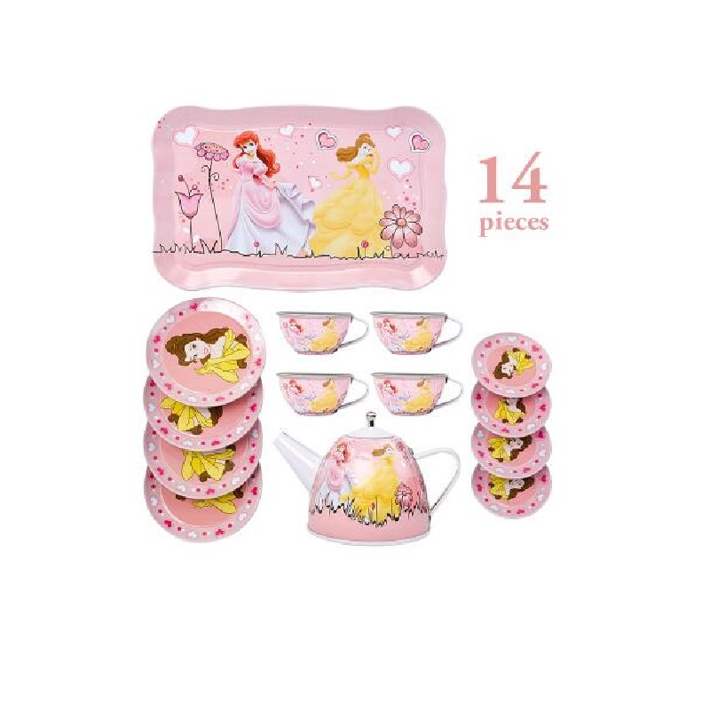 Fly AC Kids Learning & Education princess series Afternoon tea Simulation Tea set Toys for Children Birthday gift 02#
