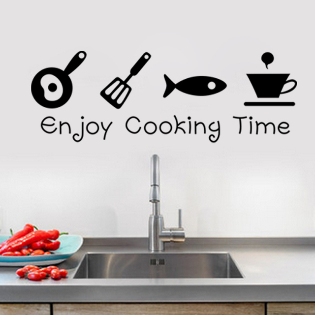 Kitchen Utensils Wallpaper 1 sheet wallpaper kitchen enjoy cooking time kitchen utensils wall