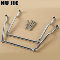 Chrome Motorcycle Saddle bag Support Guard Bars Mount Brackets For Kawasaki Vulcan VN800 Classic & VN900