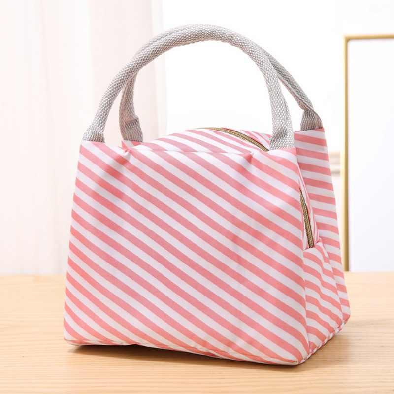 MoneRffi 2019 หนา Bento กระเป๋ากันน้ำผู้หญิงกระเป๋าข้าวฉนวนกระเป๋าถือขนาดใหญ่ลายความร้อนฉนวนกระเป๋าอาหารกลางวัน