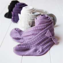 Baby-Girl Pantyhose Knitted Tights Toddler Infant Kids Cotton Bow Big Plus Elasticity