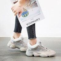 JINBEILEE/Новая зимняя спортивная женская обувь, подкладка, кашемир, натуральная овечья шерсть, повседневная обувь, теплая прогулочная обувь на ...