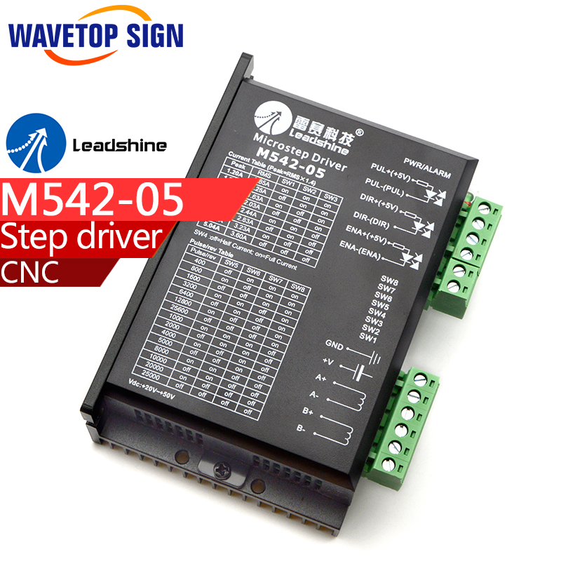 free shipping Original Leadshine M542-05 Twophase stepper motor driver for laser and CNC machines leadshine 2 phase microstep driver m542 05 step motor driver 20v 50vdc 1 2a 5 04a for cnc router