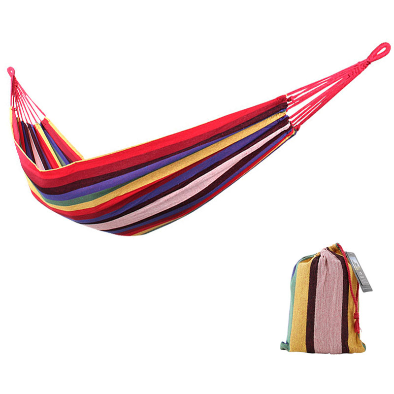 New Portable Single Double Thick Canvas Hammock Outdoor Leisure Camping Hammock Light Furniture Garden Swing Dormitory Soft BedNew Portable Single Double Thick Canvas Hammock Outdoor Leisure Camping Hammock Light Furniture Garden Swing Dormitory Soft Bed