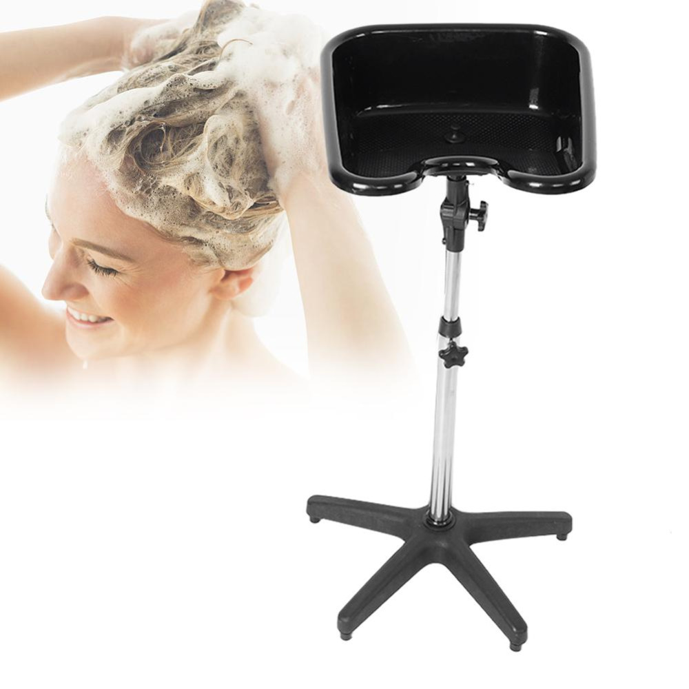 Adjustable Hair Basin PP Shampoo Basin Sinks With Drain Tube Hair Salon SPA Deep Hairdressing Shampoo Bowl Equipment Black ship from usa portable height adjustable shampoo basin hair bowl salon treatment tool