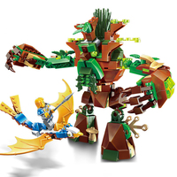286pcs War Castle Knights War Of Ancient Tree 1 Figures Building Blocks Bricks Educational Toys For