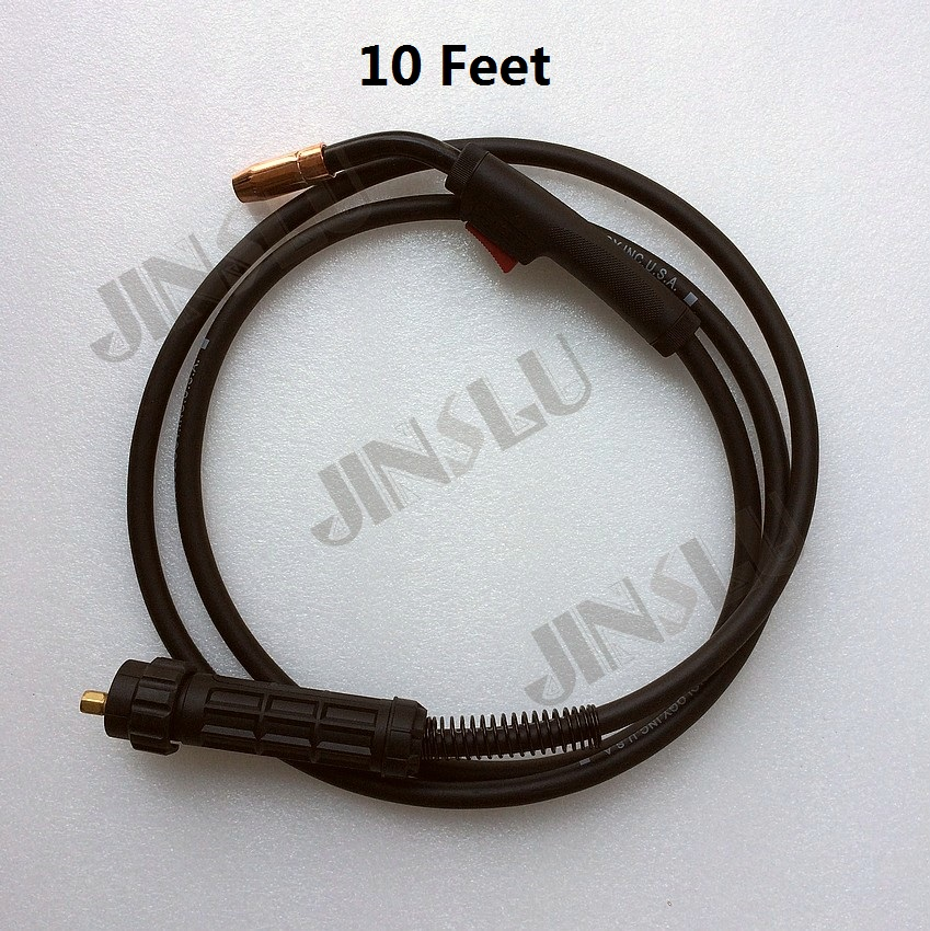 10 Feet 180A Euro Connector Replacement MIG Welding Gun Torch Tweco Head