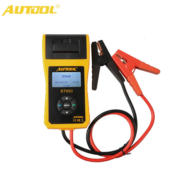 AUTOOL BT-660 Car Battery Tester with Built-in Printer BT660 Battery Analyzer for...