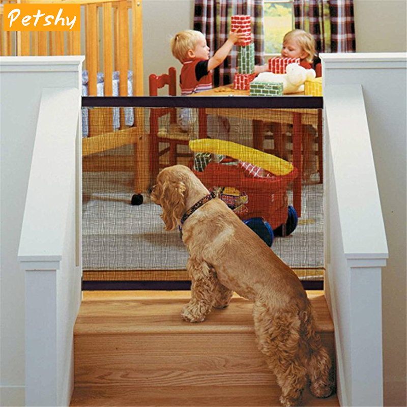 Petshy Magic Gate Dog Pet Fences Portable Folding Safe Guard Indoor and  Outdoor Protection Safety Magic Gate For Dogs Cat Pet|Dog Accessories| -  AliExpress