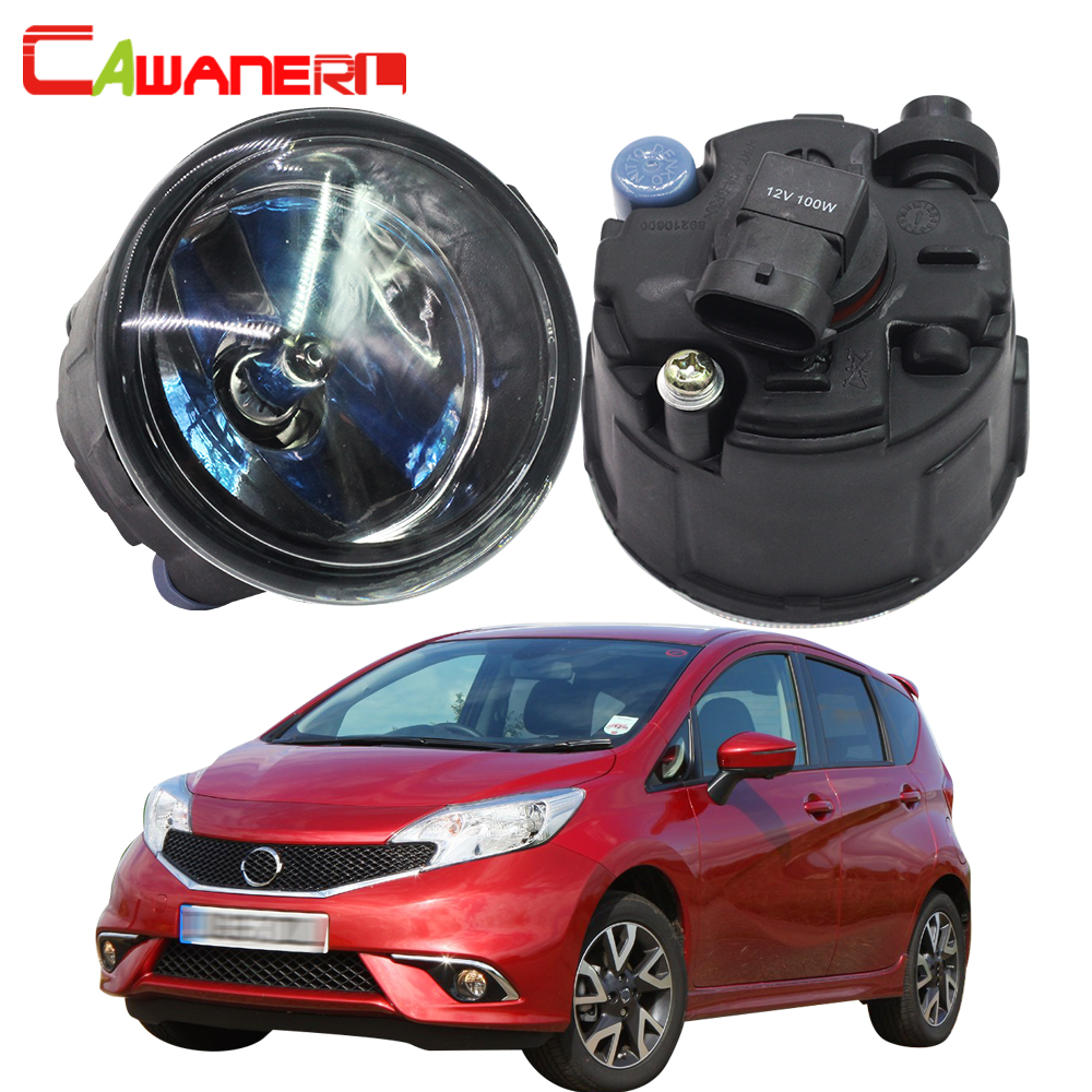 Cawanerl 2 X 100W H11 Car Halogen Bulb Fog Light DRL Daytime Running Lamp 12V High Power For Nissan Note E11 MPV 2006-2015 cawanerl 80w h1 led bulb lamp 1800lm 16 smd white high power car light fog light daytime running lamp drl headlight low beam