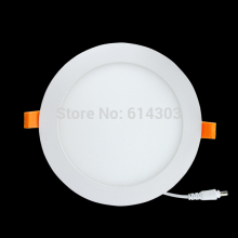 18W Flat LED Panel Light Lamp, not Dimmable Round Ultrathin LED Recessed Downlight, 1900lm, Warm White 3000K,