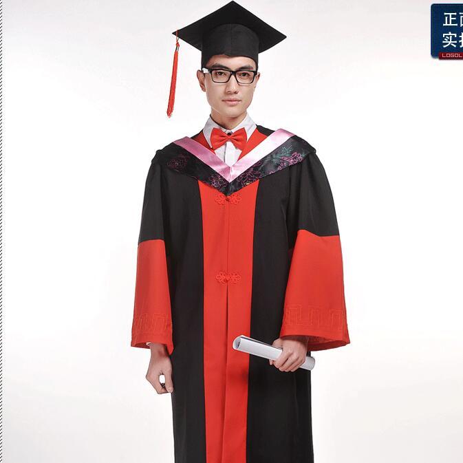 Remise des diplômes vêtements Cap robe Graduation diplômé uniforme académique robe docteur vêtements