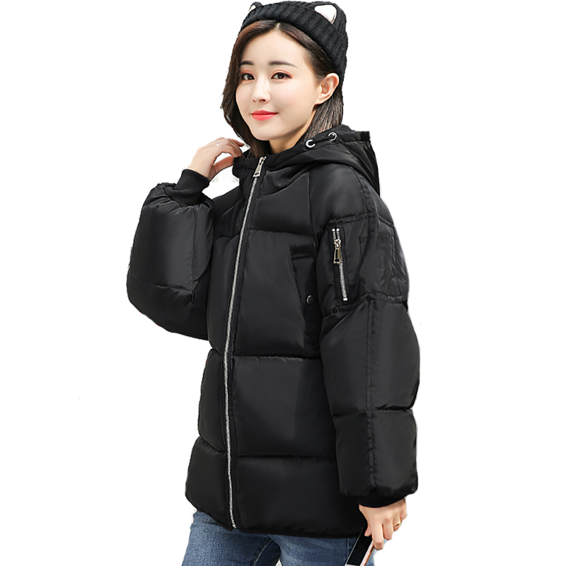Hooded Winter Jacket Women Cotton Padded Warm Thick Female Short Coat Parka Solid Color Oversized Casaco Feminina Inverno hooded long printing casaco feminino inverno 2017 warm thicken cotton padded winter jacket women female coat parka women s