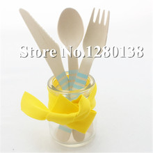 Free Shipping 100 Pcs/lot Striped Wooden Cutlery, Party Supplies 10 Colors Wooden Forks стоимость