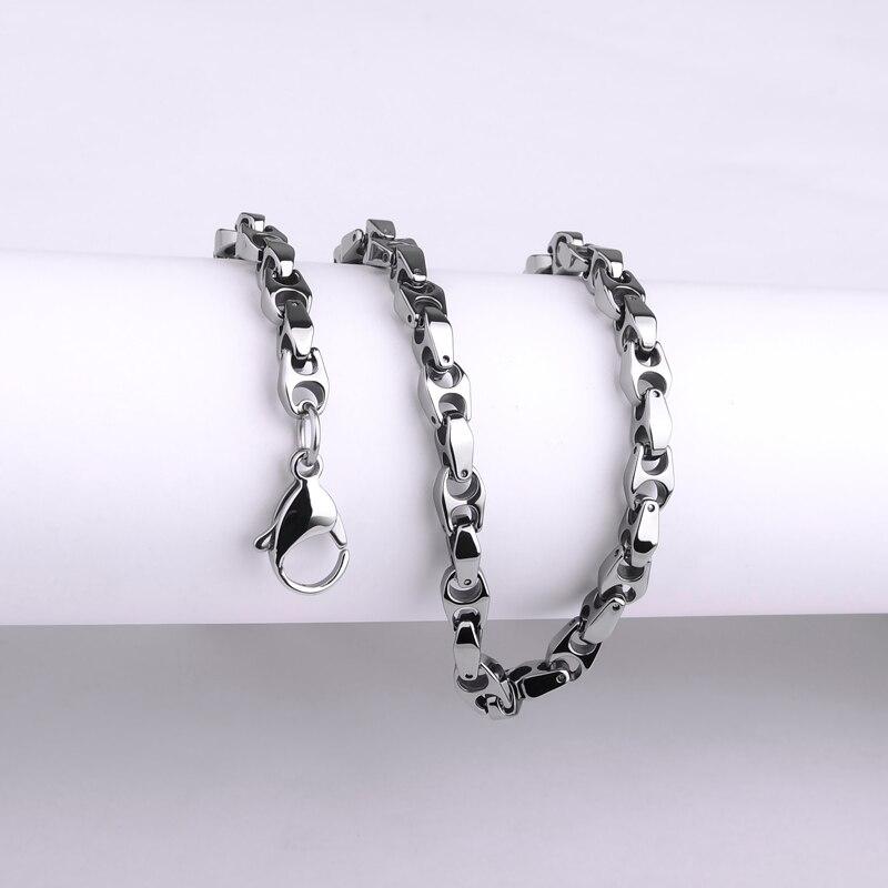 2018 nouveauté personnalisé 6mm épaisseur tungstène chaîne colliers pour homme Cool ne se fanent jamais résistant aux rayures 45/50/55/60cm longueur-in Colliers chaîne from Bijoux et Accessoires    2