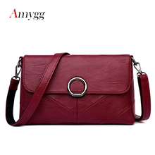 AMYGG Brand High Quality Women Crossbody Bags Female Totes Handbags Women Bag Handbags Solid Leather Messenger Shoulder Bag