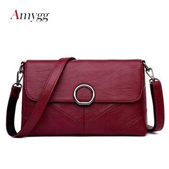 AMYGG de marca, de alta calidad bolso mujer Bolsos Mujer bolsos de las mujeres bolsos de cuero mensajero bolsa de hombro