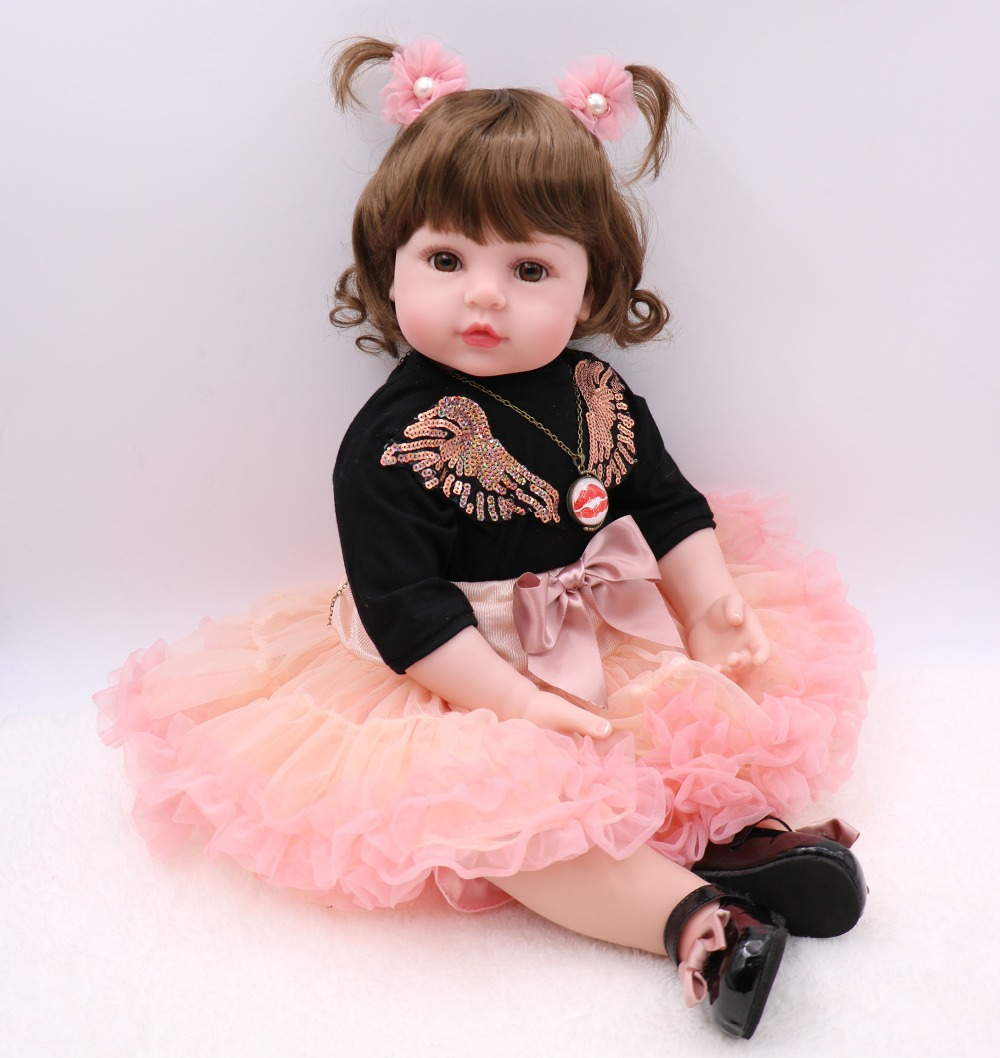 Large size 60cm Silicone Reborn Baby Doll Toys 24inch Vinyl Princess Toddler Girl Babies Doll High Quality  Gift Bebes rebornLarge size 60cm Silicone Reborn Baby Doll Toys 24inch Vinyl Princess Toddler Girl Babies Doll High Quality  Gift Bebes reborn