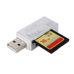 Смарт-кард-ридер мульти кард-ридер для карты памяти Pro Duo Micro SD TF M2 MMC SDHC MS Silier цвета высокое качество