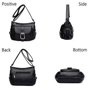 Image 3 - 女性の高級ブランドハンドバッグサックメインクロスボディバッグ女性の革のショルダーバッグ女性のメッセンジャーバッグスモールソフトフラップバッグ