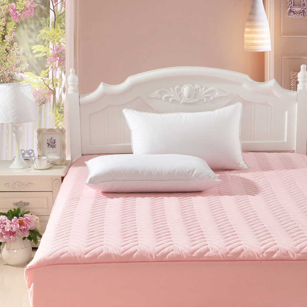 Quilted Queen King Mattress Sheet Protective Cover <font><b>With</b></font> Rubber Stuffing/Fillings/Pad Thin Cotton Mattress Twin Single Protector