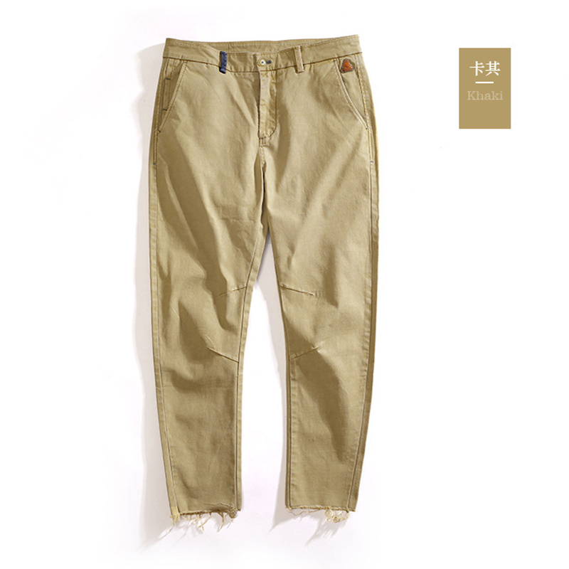 New Casual Pants Men Cotton 2018 Spring Summer Slim Fit Fashion Trousers Male Brand Clothing high street Trousers Army Pants high quality brand clothing casual trousers drawstring denim green cargo pants regular fit pockets full jeans pants 28 38 a320