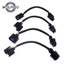 wolfigo obd1 to obd2 fuel injector conversion jumper harness adapter plug  for honda acura civic prelude