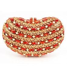 2016 neue Design Abendtasche Luxus Kristall Perle Party Kupplung Rote Hochzeitstasche SC426