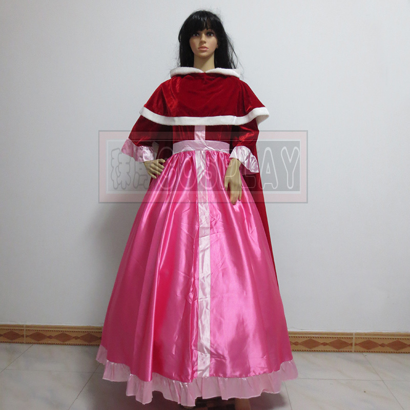 Beauty and the Beast dress Belle princess pink cosplay dress with cape for dancing costumes
