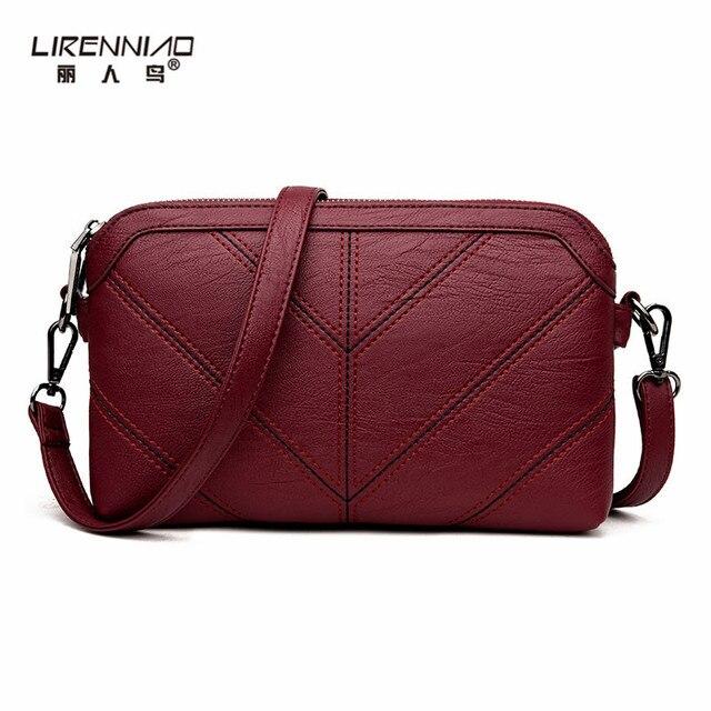 1ec123014f291 LIRENNIAO Vintage Roten Faden Messenger Bags Designer Hochwertigen  Handtaschen Crossbody Tasche Damen Sac ein Haupt Kleine