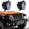 2PCS 4Inch Round Led Fog Light Headlight 30W Projector lens With Halo DRL Lamp For Offroad Jeep Wrangler Jk Harley Daymaker