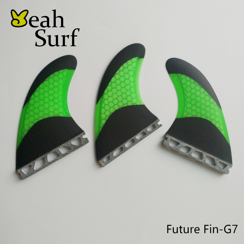 Wake Board Surfing Future G5 / G7 Fin Honeycomb Bicolor Sort Fiberglass Fin Surfboard Quilhas Gratis Levering