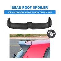 MK7 Carbon Rear Trunk Roof Spoiler for Volkswagen VW Golf 7 VII MK7 GTI R 2014 2018 O style Window Tail Wings FRP Black