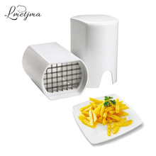 LMETJMA Stainless Steel French Fry Cutter Kitchen Potato Chip Cutter Slicer Fries French Fry Potato Cutter Kitchen Tools LK0730C(China)