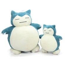 30cm 50cm Peluche de Snorlax juguete suave almohada cojín de felpa Animal relleno adorable muñecas de animé de felpa juguetes de Navidad