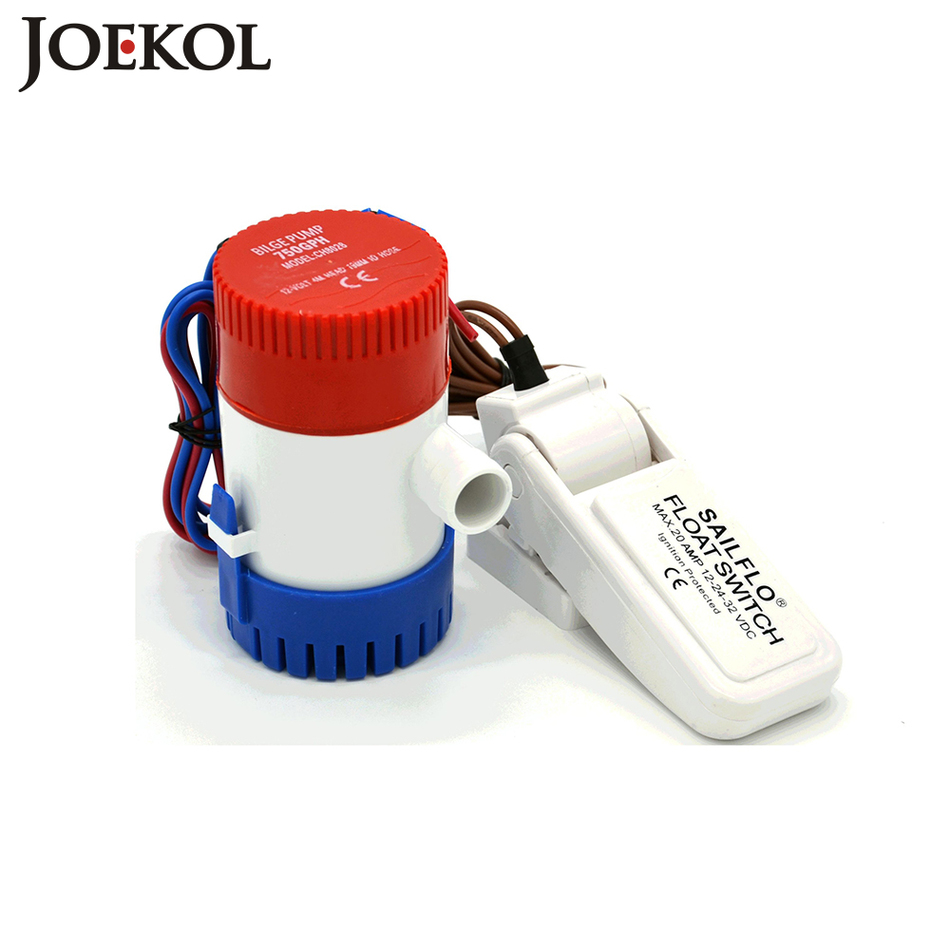 Free shipping 12v/24Volt submersible bilge pump with bilge float switch 750GPH electric water pump for boats accessories marin сандалии betsy сандалии