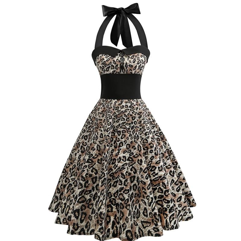 Women's Clothing 2019 Women Summer Vintage Dresses Party Night Sexy Elegant Plus Size Leopard Mini Dress