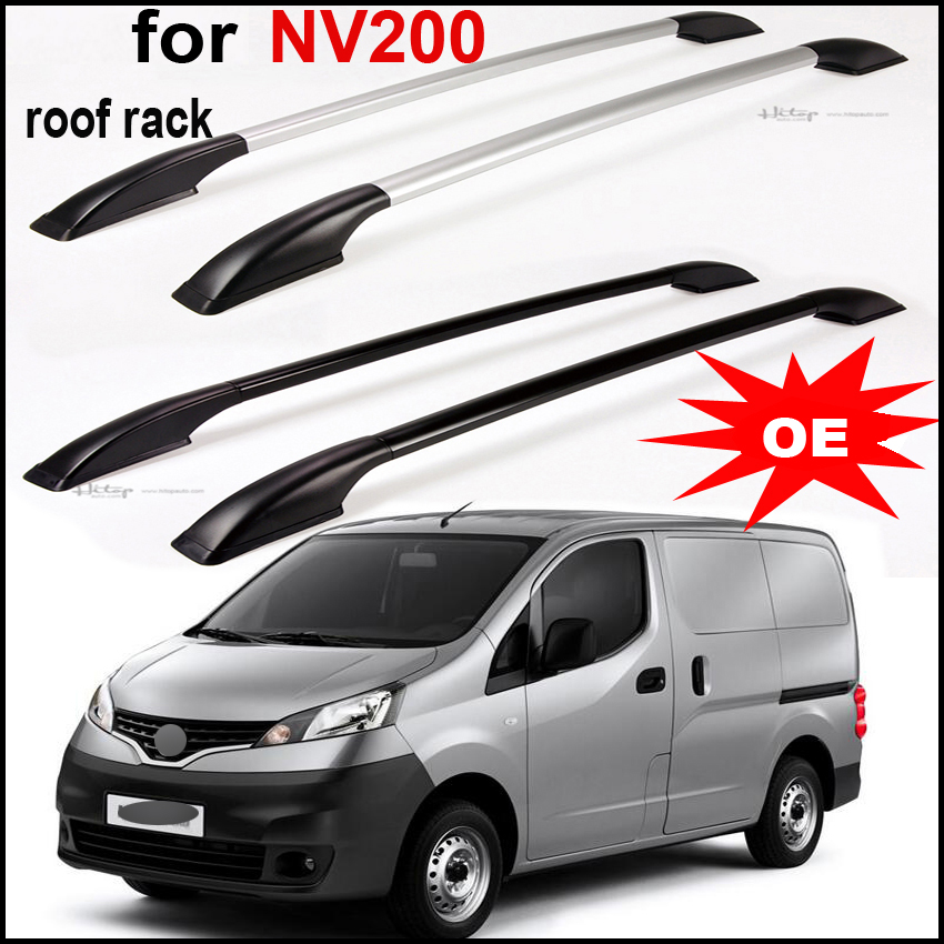 rack rail roof rack cross beam for Nissan NV200,aluminum alloy+ABS, decorate your car, Asia free shipping. 2pc abs after the triangle decorate for nissan murano 2015