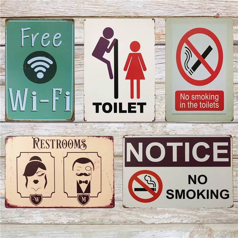 top 8 most popular metal poster toilet list and get free shipping