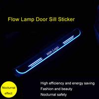 QHCP Stainless Steel Door Pedal LED Welcome Light Scuff Plate External Pathway Threshold For LEXUS ES200 250 300H NX200 300 300H